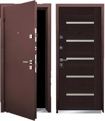 входная дверь цвета венге